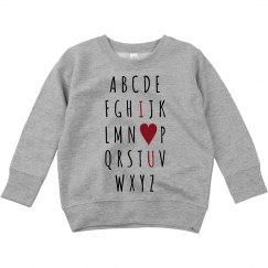 Cute Alphabet Valentine's Toddler