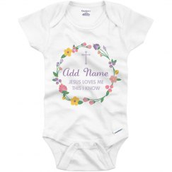 Easter Sunday Prayer Baby Bodysuit