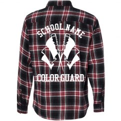 School Color Guard Grunge Style Flannel Shirt