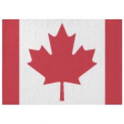 Canadian flag area rug