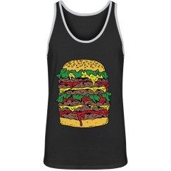 Heart attack burger tank top