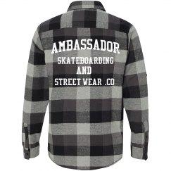 AMBASSADOR flannel shirt (Back detailing)
