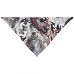 Marble Geode Abstract Print For Pet