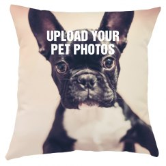 Pet Photo All Over Print Pillow