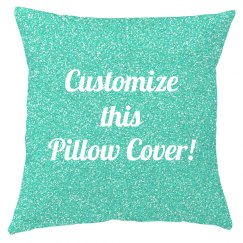 All Over Turquoise Print Pillow