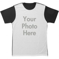 Custom Photo Upload All Over Tee