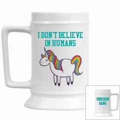 Unicorn beer stein