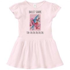 Ballet shark ten-du toddler ruffle neck T