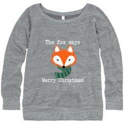 Christmas Fox Saying
