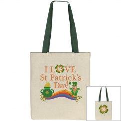 I Love St Patrick's Day, Tote Bag
