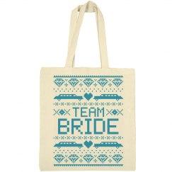 Team Bride Ugly Xmas Tote