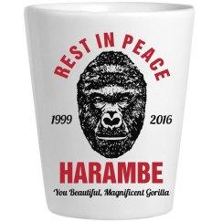 Rest In Peace Harambe Shotglass