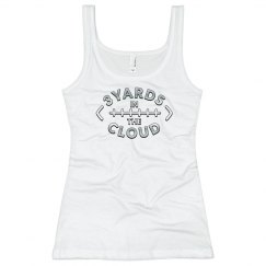 3 Yards in the Cloud women's fitted tank