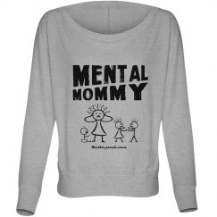 Mental Mommy Off-the-Shoulder Sweatshirt (black)