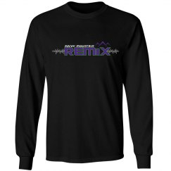 Black Long Sleeve Remix Tee
