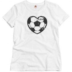 Love Soccer Ball Heart