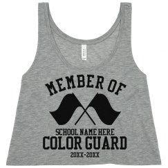 Custom Color Guard Member Neon Crop Top