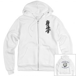 Fleece Zip Up with Kanji and Logo