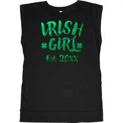 Metallic Irish Girl Add Date