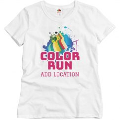 Personalized Color Run Team Shirts