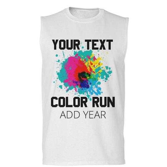 d2f82aea3 Customizable Race Color Run Design Unisex Basic Promo Sleeveless T-Shirt