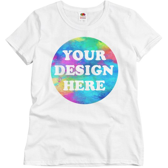 a0688655 Your Design Here Custom Color Run Ladies Relaxed Fit Basic Promo T-Shirt