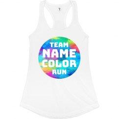Custom Team Name Color Run