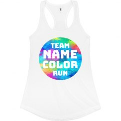 Custom Team Name Color Run