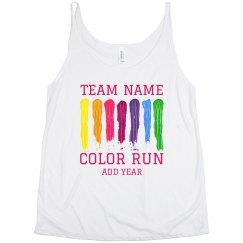 Plus Size Custom Color Run Race