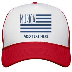 Custom Text 'Murica Flag