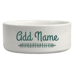 Add Your Pet's Name Food Dish