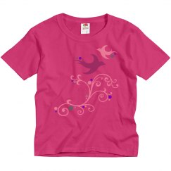 birds forever fly together youth girls tee shirt