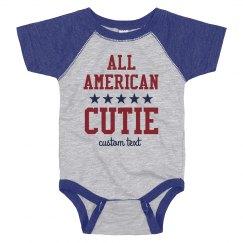 All American Cutie Custom July 4th Baby