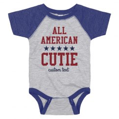All American Cutie Custom July 4th Baby