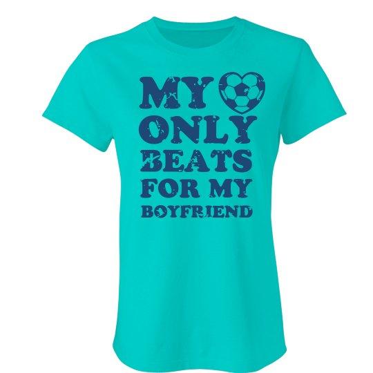 Soccer Girlfriend Ladies Slim Fit Favorite T Shirt
