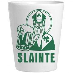 Slainte Irish Shot Glass St. Pat