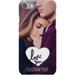 Custom Couple Photo Love You Case