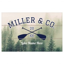 Custom Family Reunion Lake Plaque