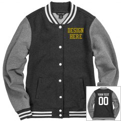 Custom Front & Back Design Varsity Jacket