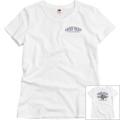 Women's Front and Back Vintage Design Tee