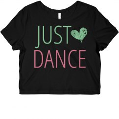 Just Dance Crop Tee