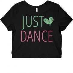 Just Dance Crop Tee