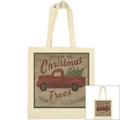 Christmas Trees, fresh cut, free delivery tote bag