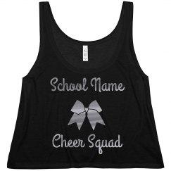 Custom Name Metallic Cheer Squad