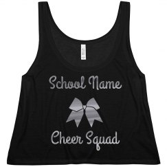 Custom Name Metallic Cheer Squad