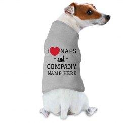 I Heart Naps Custom Office Dog