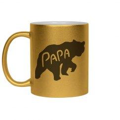 Metallic Papa Bear Mug