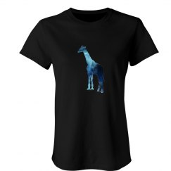 Simple Galaxy Giraffe Tee