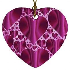 Fuschia & Pink Hearts Within a Heart