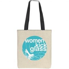 Women Kick Glass Tote